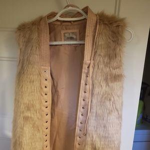 Light Pink Guess Fur Vest
